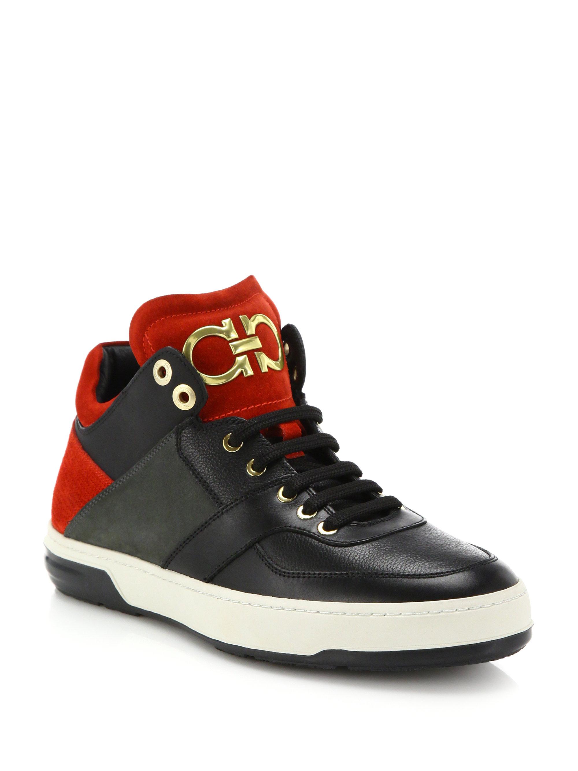 0a9d4c4e5f48b Lyst - Ferragamo Monroe High-top Sneakers in Black for Men
