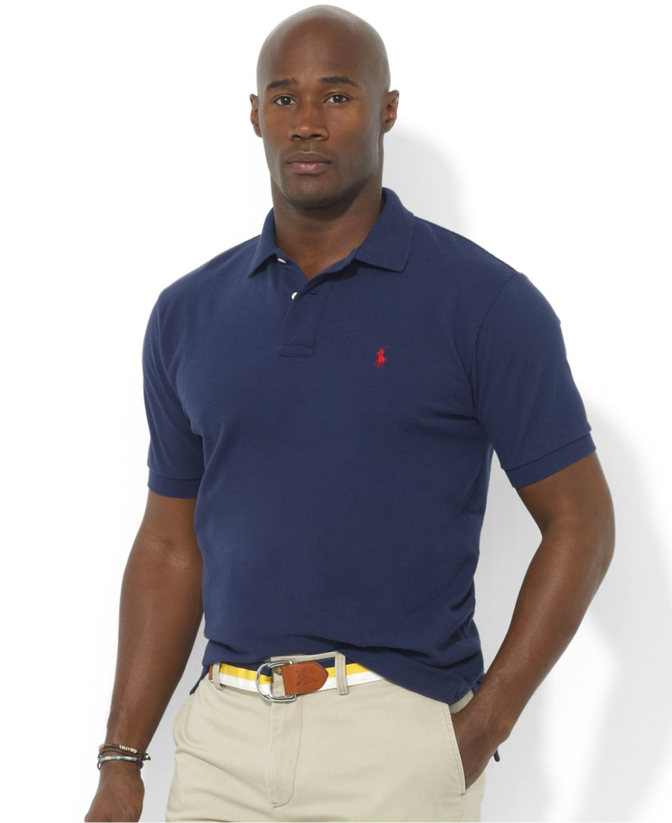 Polo ralph lauren Classic-fit Short-sleeve Cotton Mesh Polo in Blue for Men (Newport Navy) | Lyst