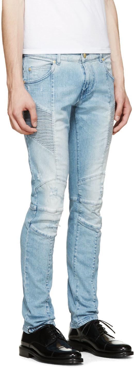 distressed jeans - Blue Balmain izvwaqq