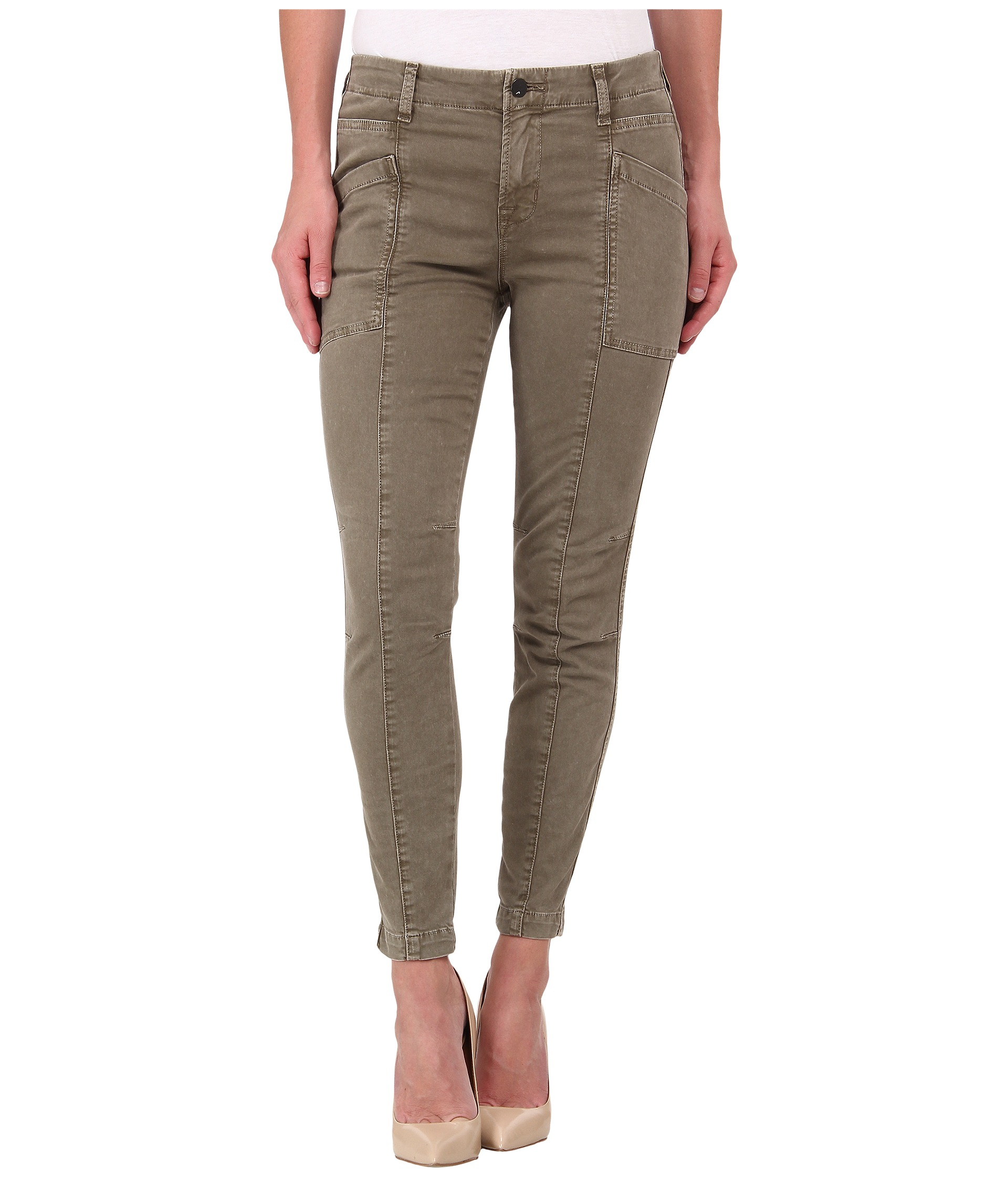 Cool Michael Michael Kors Skinny Cargo Pants In Green Rich Olive  Lyst