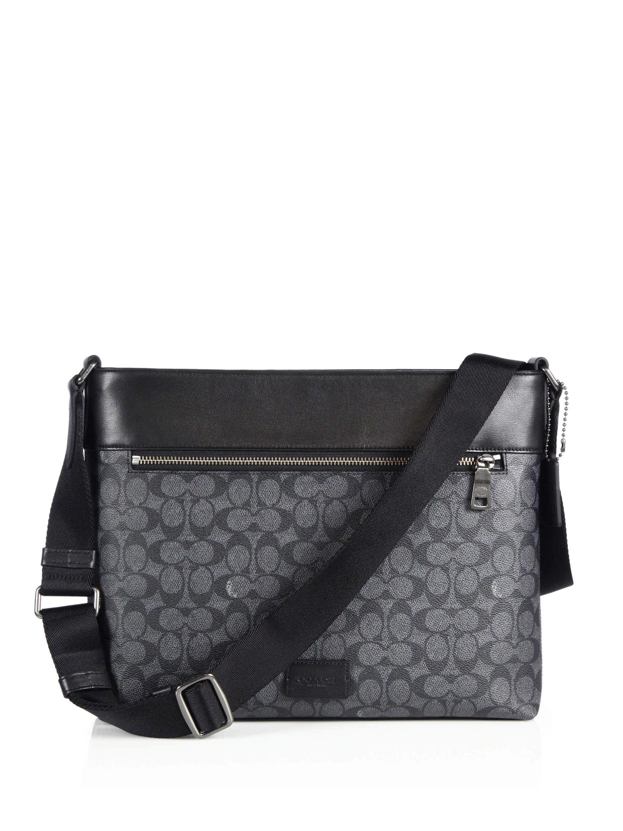 coach bag black and gray pm6x  Gallery