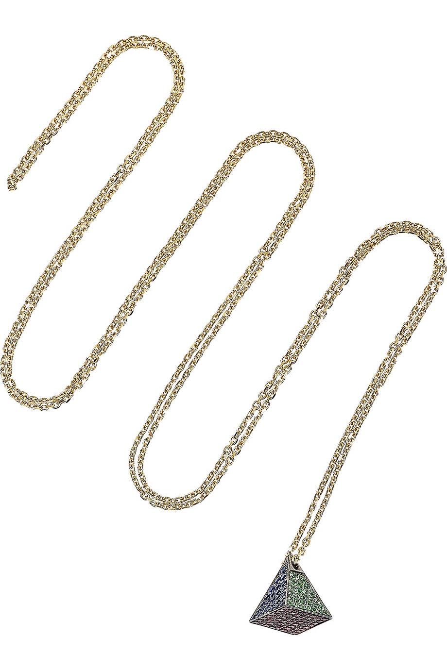 Exclusive Mala 18-karat Gray Gold Multi-stone Necklace - one size Noor Fares oIwTk47t