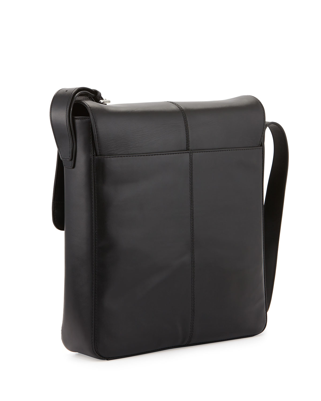 Medium Leather Messenger Bag