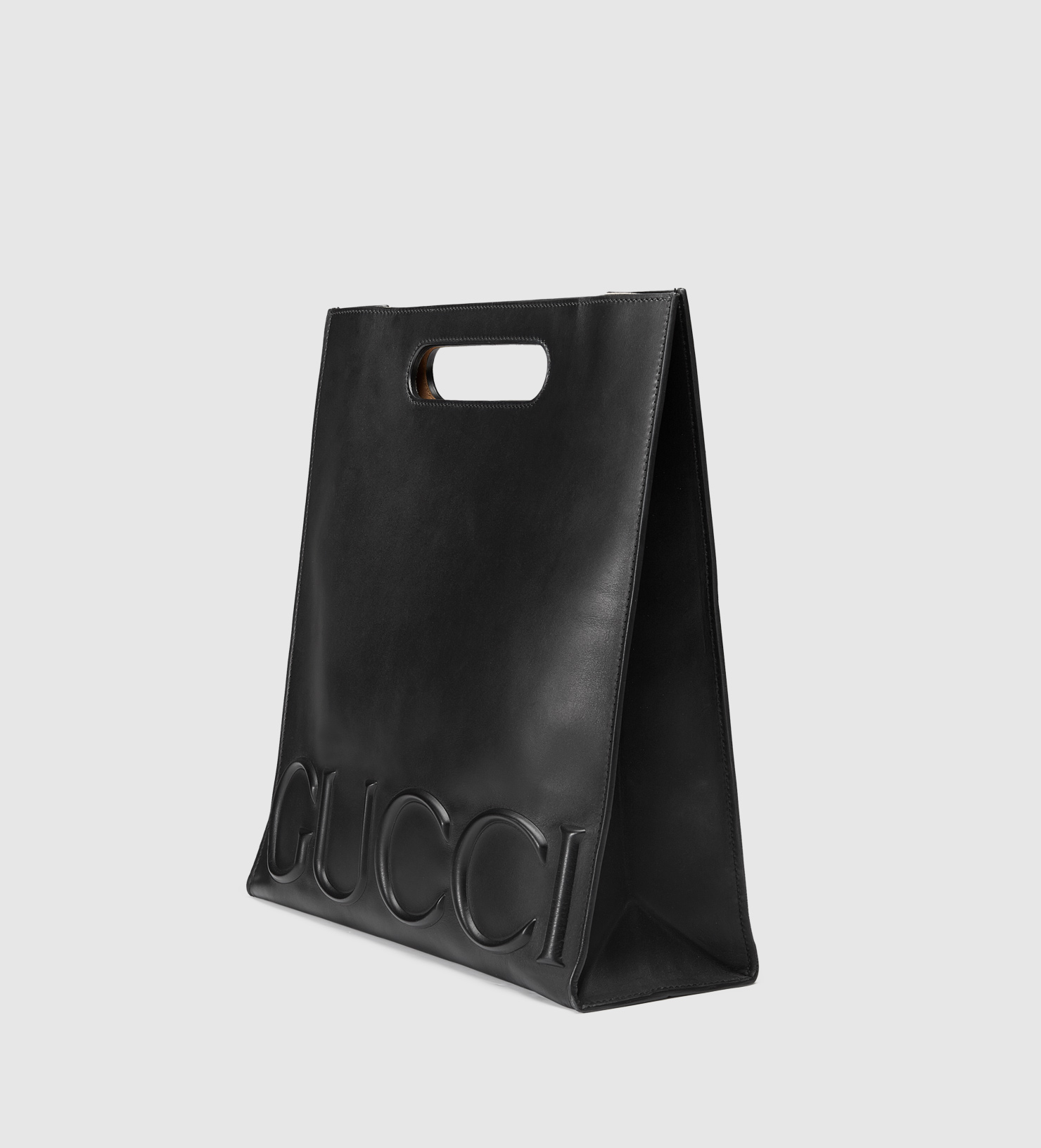 3837bd31301599 Gucci Xl Leather Tote in Black - Lyst