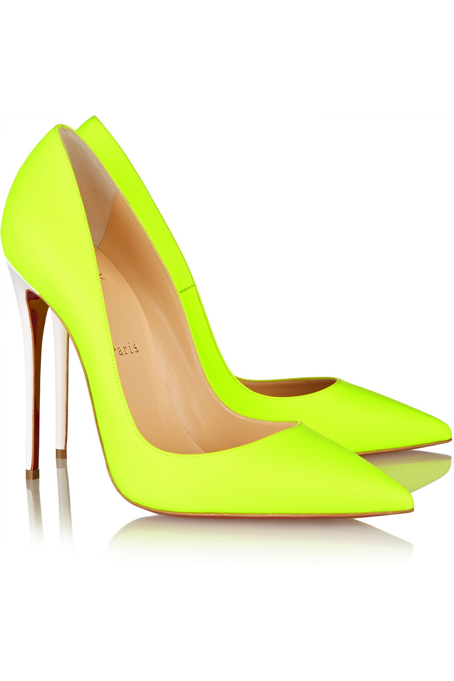 e09a12e9d8e6 Lyst - Christian Louboutin So Kate 120 Neon Leather Pumps in Yellow