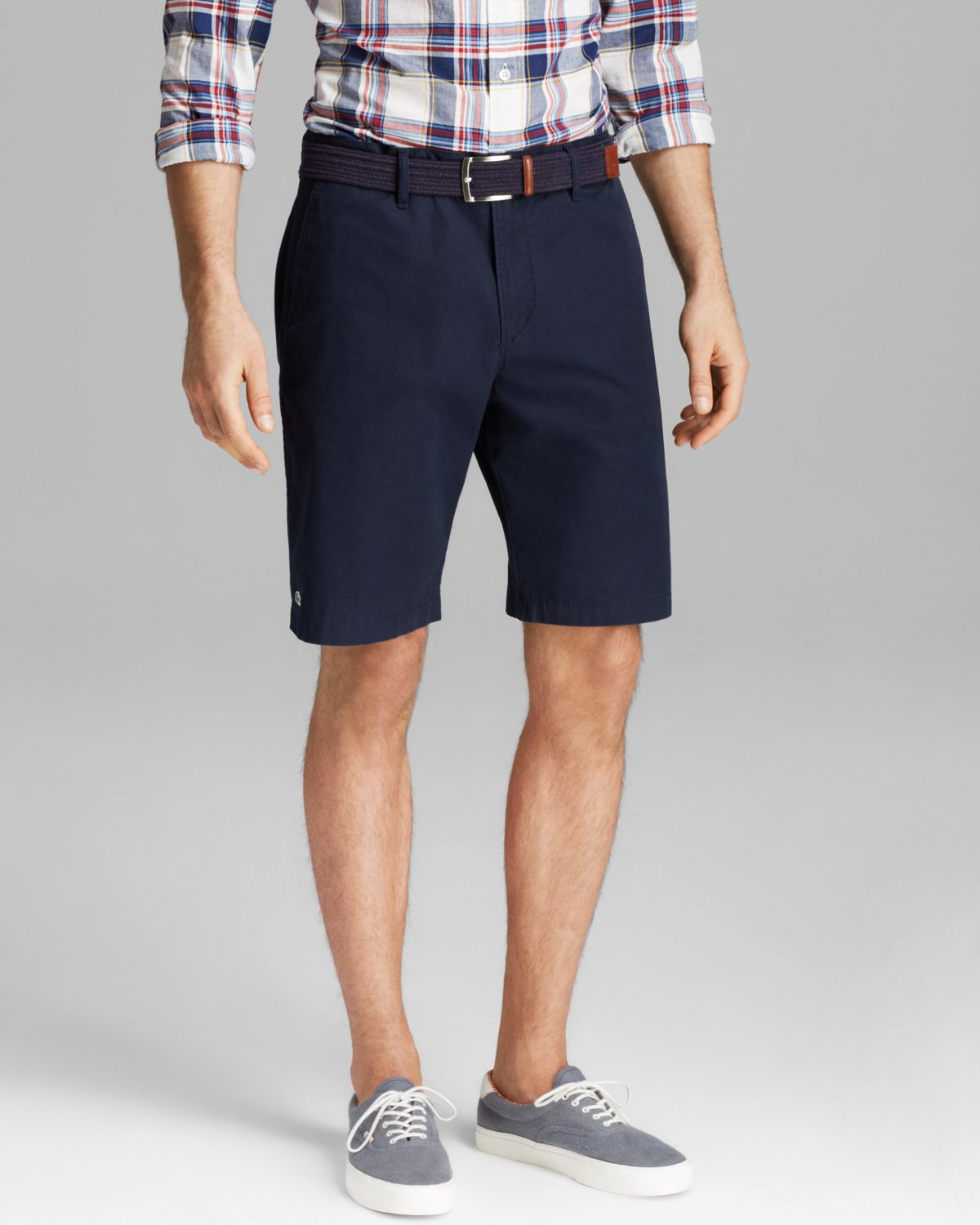 Lyst Lacoste Classic Fit Bermuda Shorts In Blue For Men