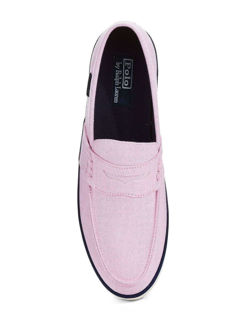 polo ralph evan boat shoes in pink for lyst
