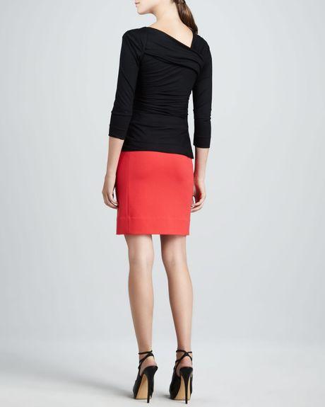Diane Von Furstenberg Bentley Top In Black