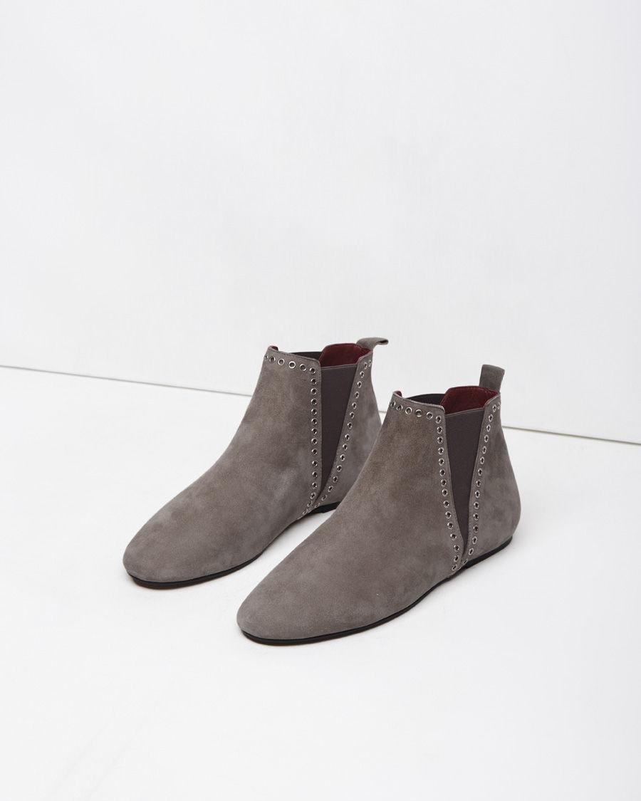 lyst isabel marant lars eyelet suede ankle boots in brown. Black Bedroom Furniture Sets. Home Design Ideas