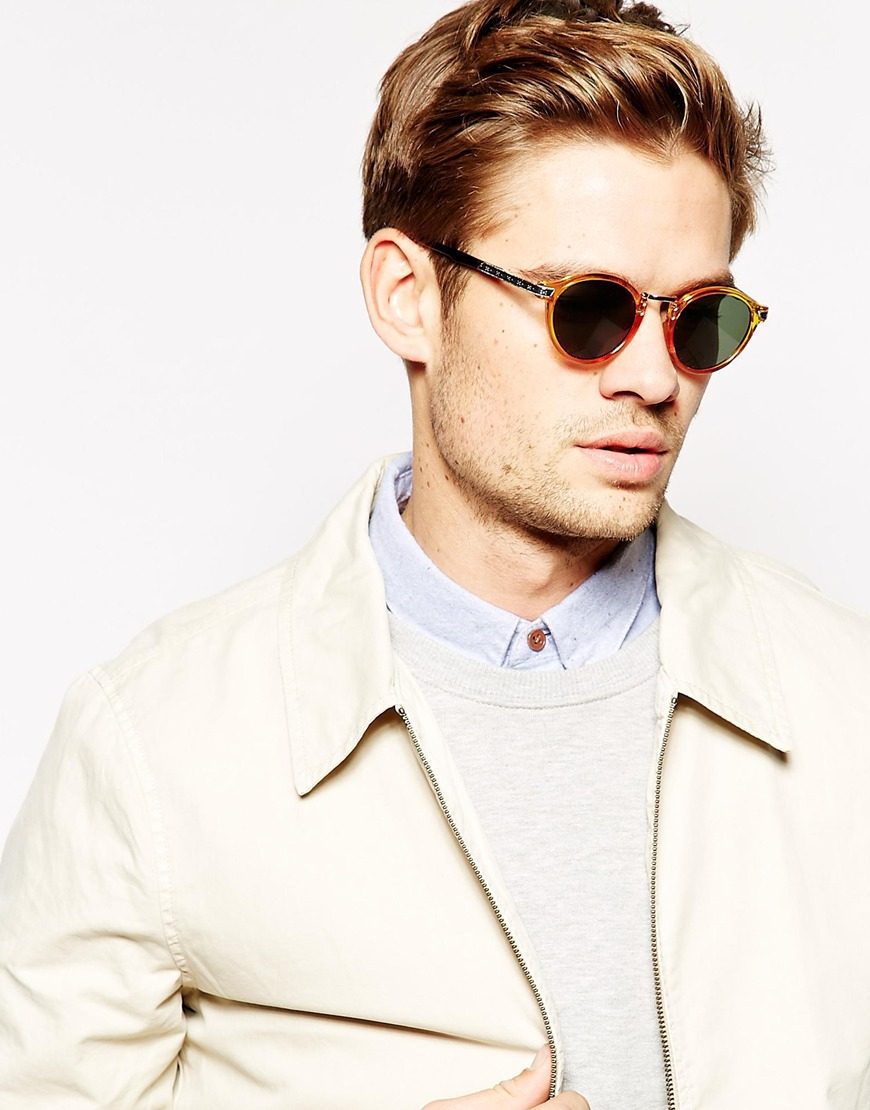 Asos Vintage Round Sunglasses In Brown For Men Lyst