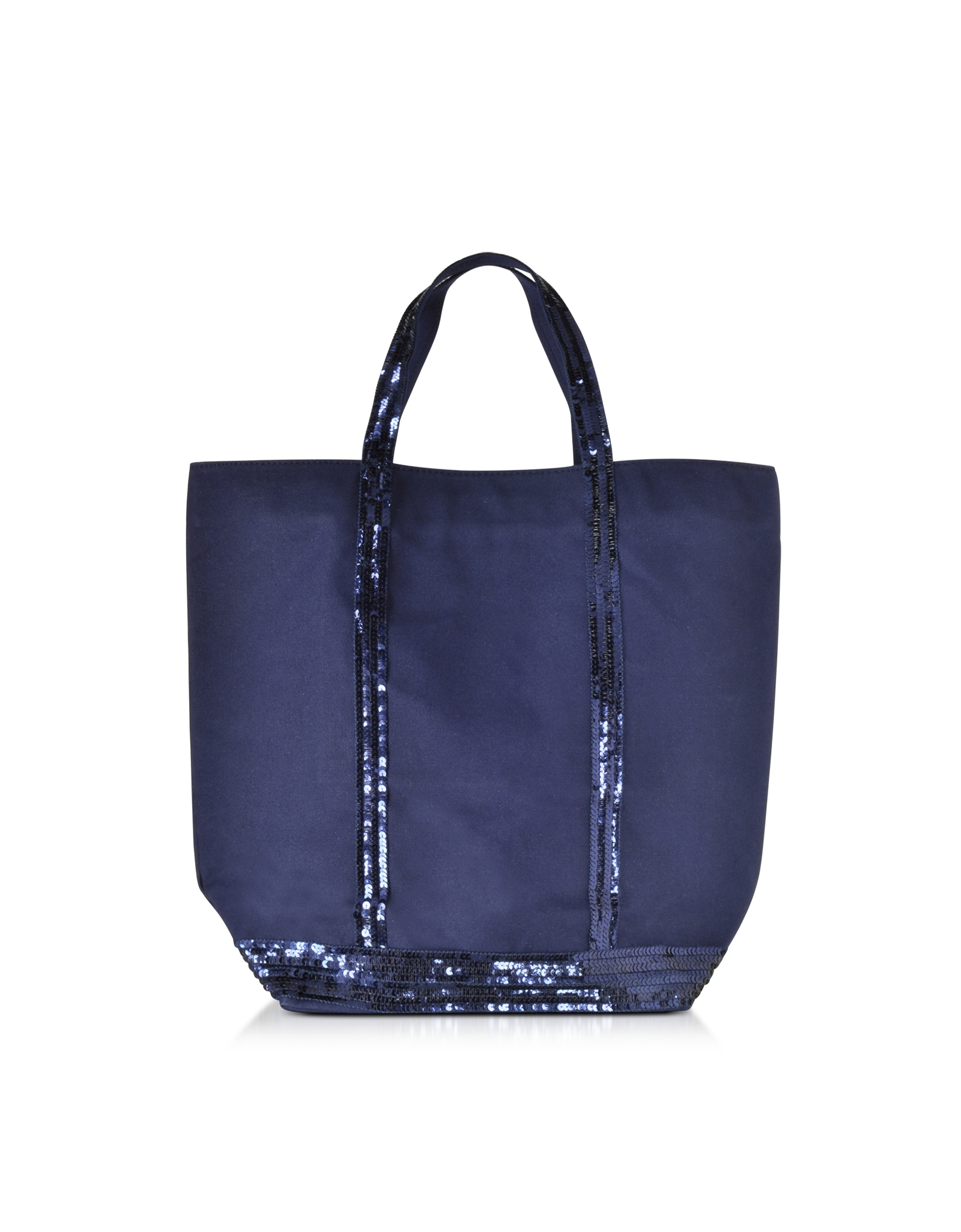 lyst vanessa bruno les cabas nord sud cotton and sequins tote in blue. Black Bedroom Furniture Sets. Home Design Ideas