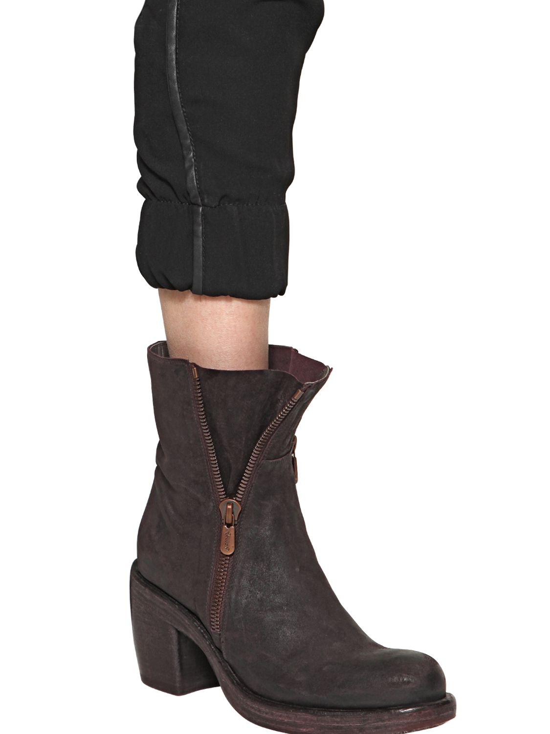 ROCCO P. 90MM LEATHER ANKLE BOOTS 84p1sl