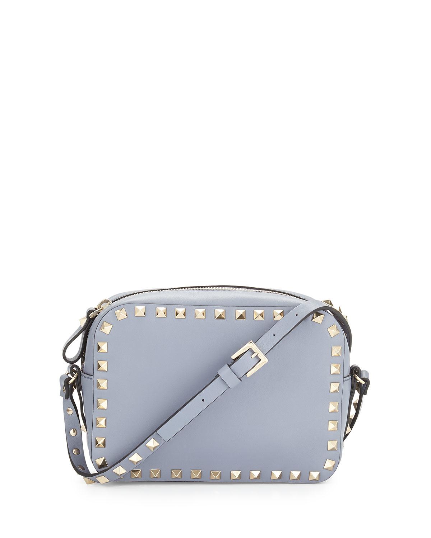 0e83dd14a7c8 Valentino Camera Bag White. Lyst - Valentino Rockstud Camera Small Leather  ...