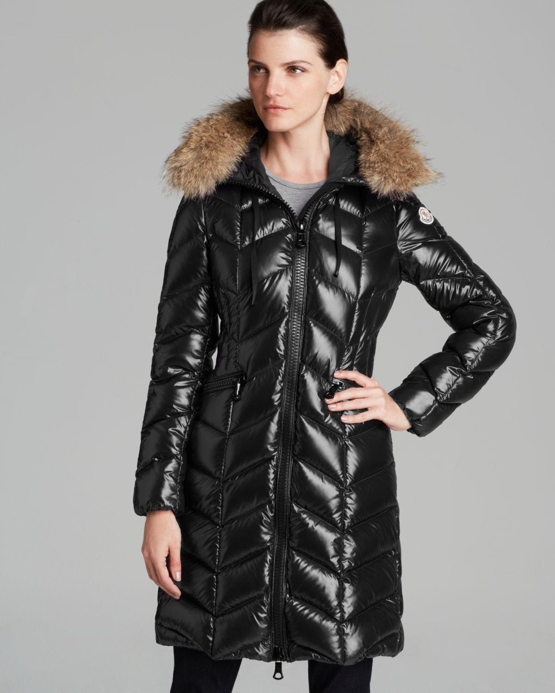 fce265fe7 inexpensive moncler fur trim shiny puffer jacket 7cc7b c7ae5