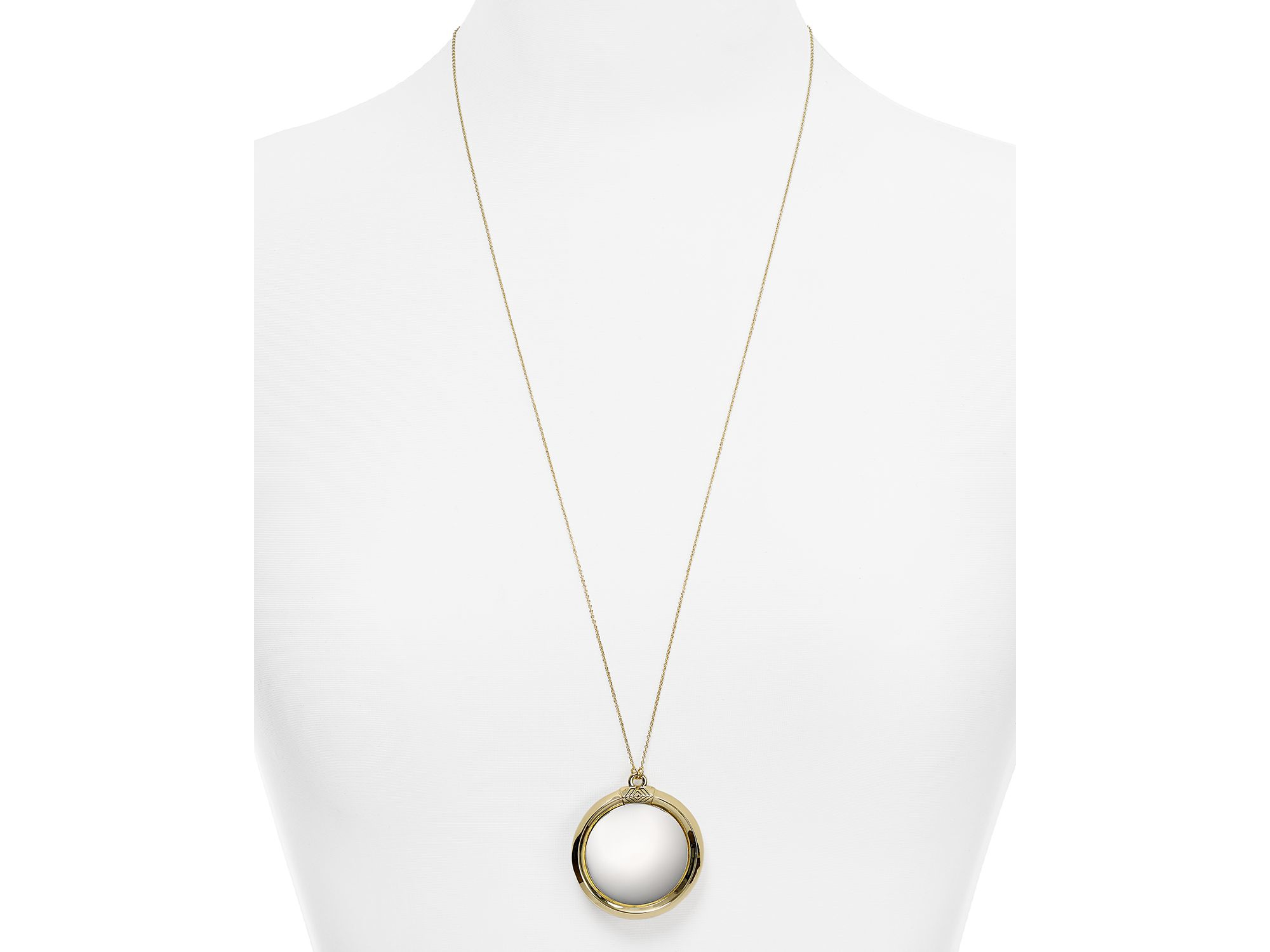 Lyst house of harlow 1960 1960 caral culture two tone pendant gallery mozeypictures Image collections