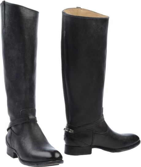 frye boots in black lyst