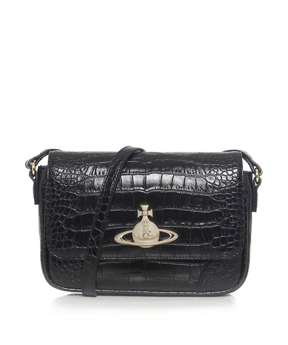 5cedf2792880 Lyst - Vivienne Westwood Jungle Crocodile Shoulder Bag in Black