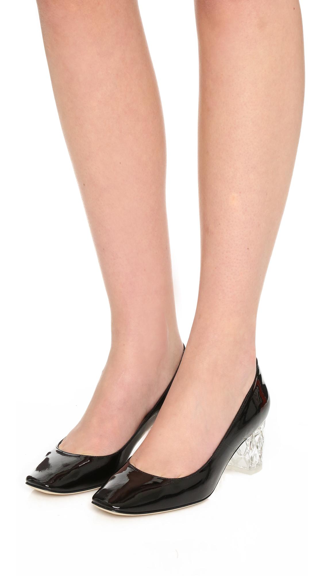 3f13dd32b241 Lyst - Kate Spade Dawson Too Block Heel Pumps in Black