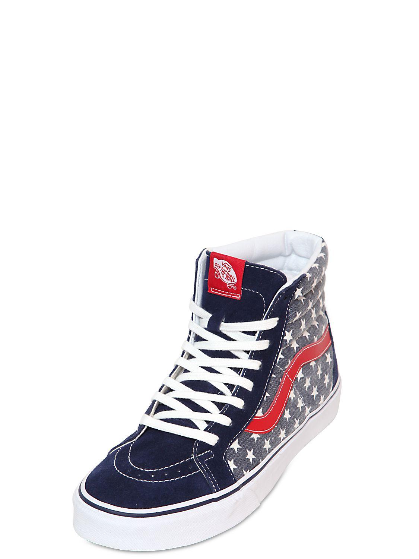 Vans Sk8 Hi Van Doren Canvas High Sneakers In Blue For Men