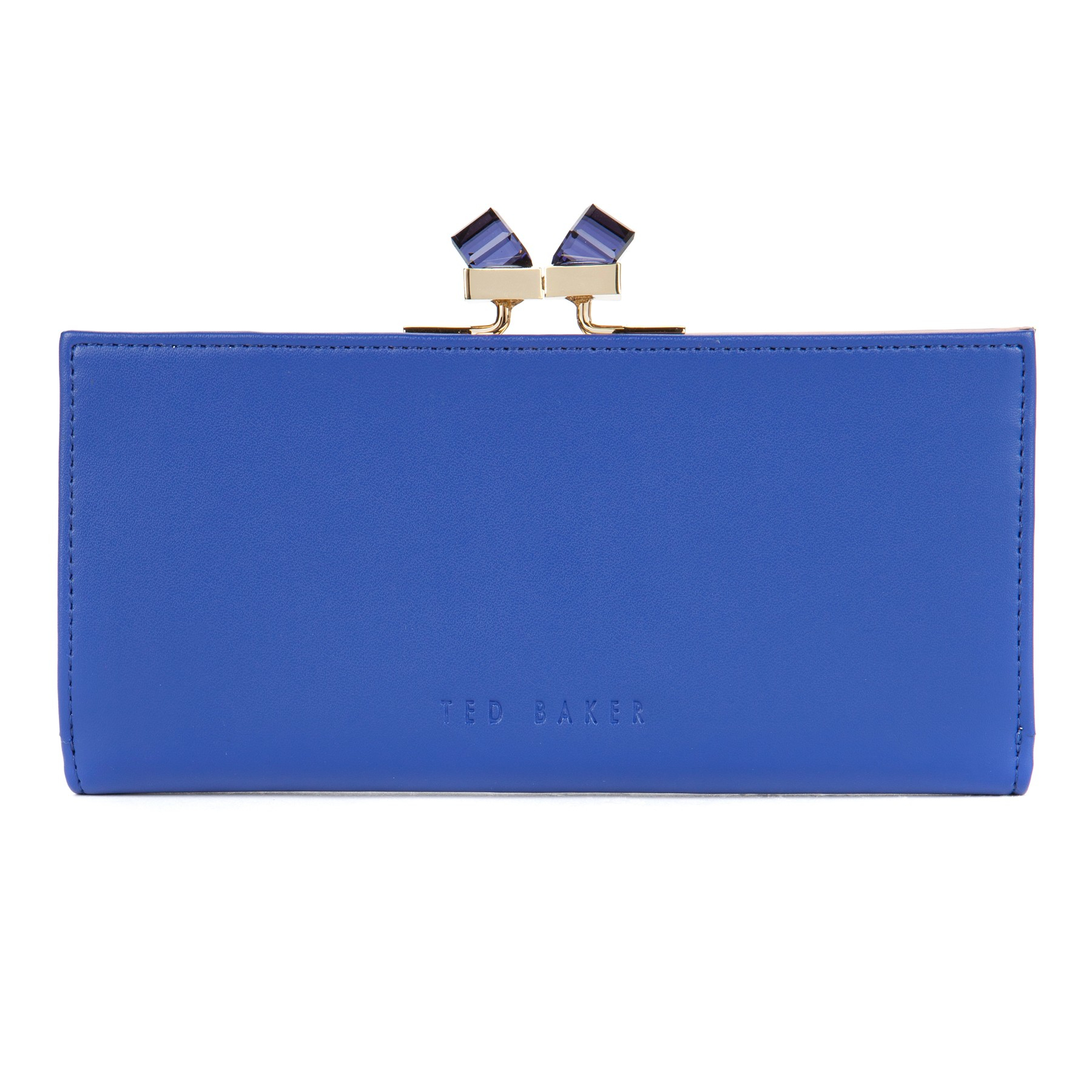 6e67b19b54b15 Ted Baker Wenny Square Crystal Popper Matinee Leather Purse in Blue ...