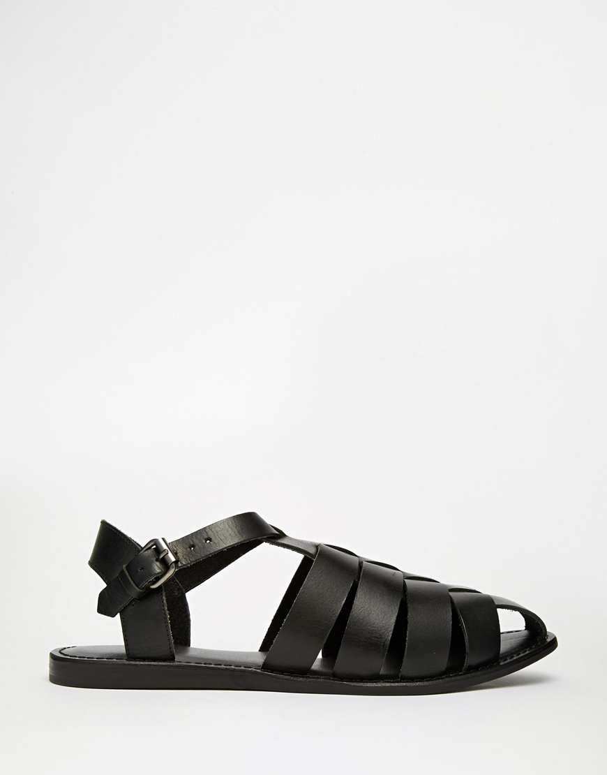 71a4ace9c55c Lyst - ASOS Gladiator Sandals In Leather in Black for Men