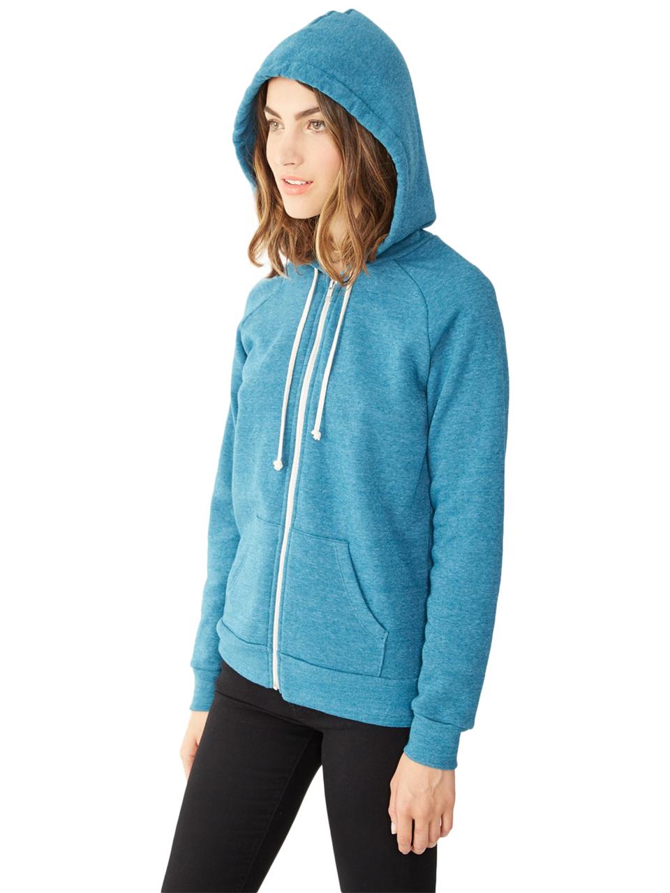 alternative apparel adrian eco fleece hoodie in blue lyst