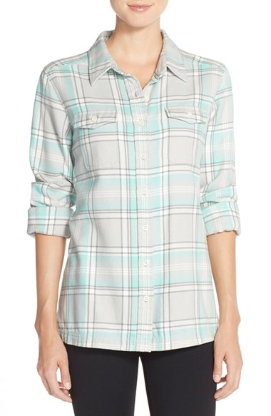 Patagonia 39 Fjord 39 Flannel Shirt In Gray Lyst