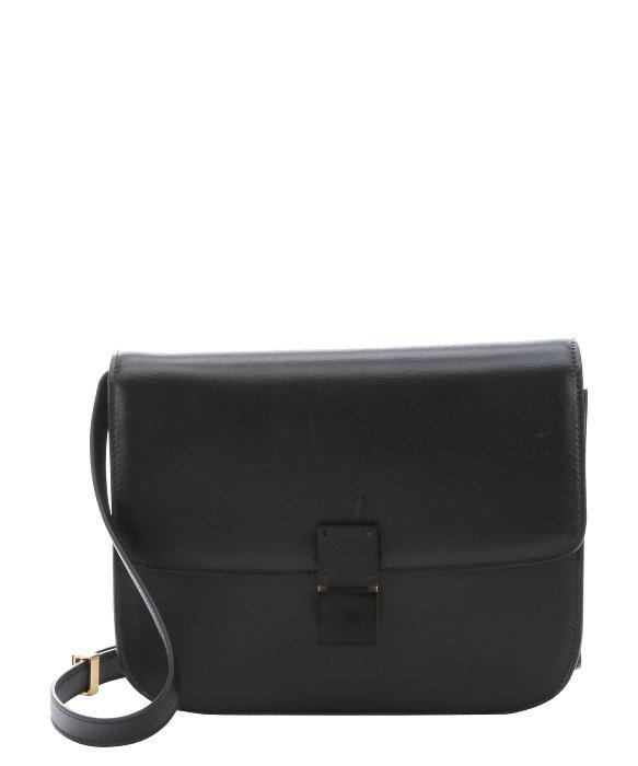 fake celine bag - C��line Black Leather Medium 'classic Box' Shoulder Bag in Black   Lyst