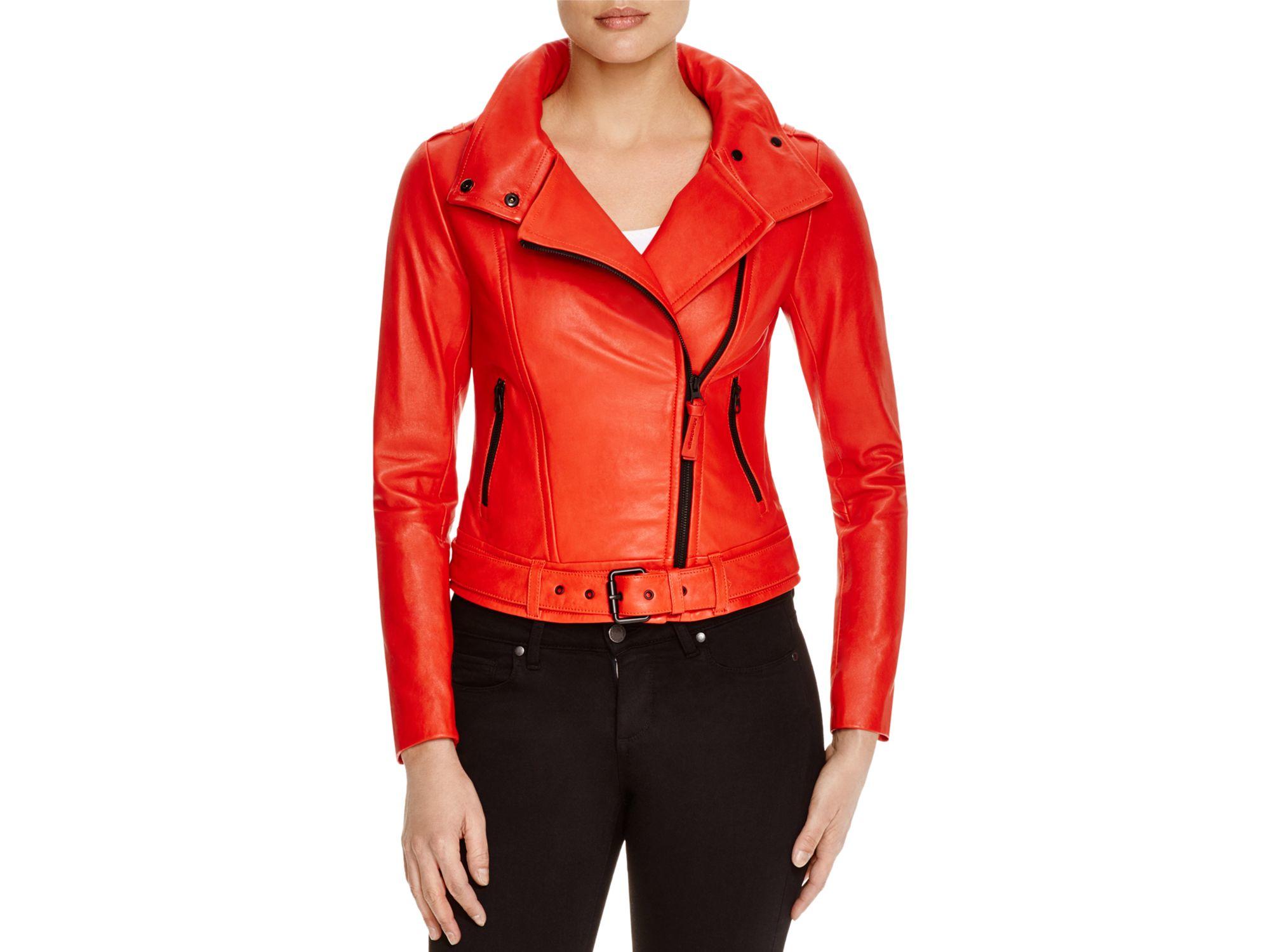 Mackage leather jacket men