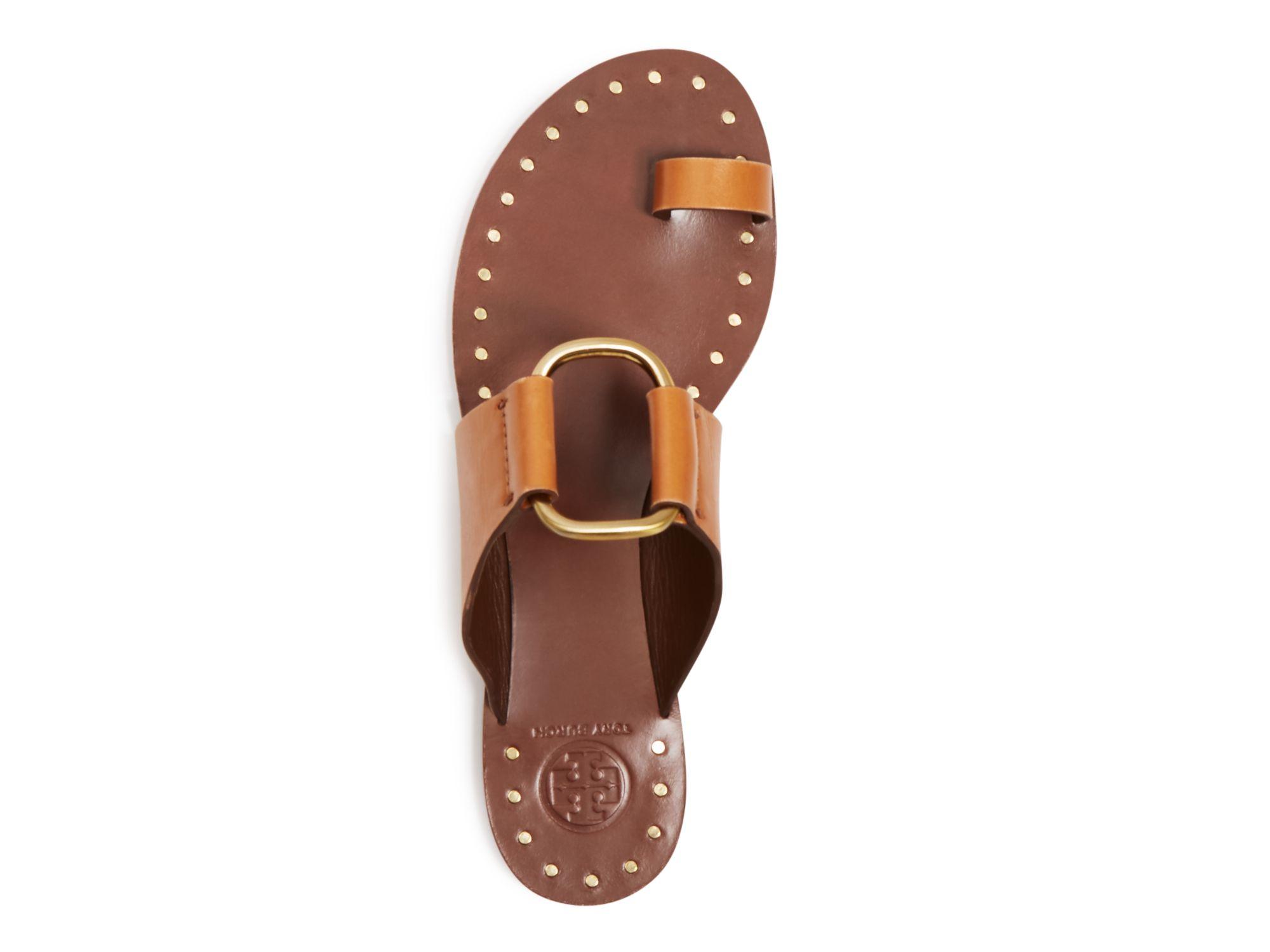 c694bbb920ab Lyst - Tory Burch Brannan Flat Sandals in Brown