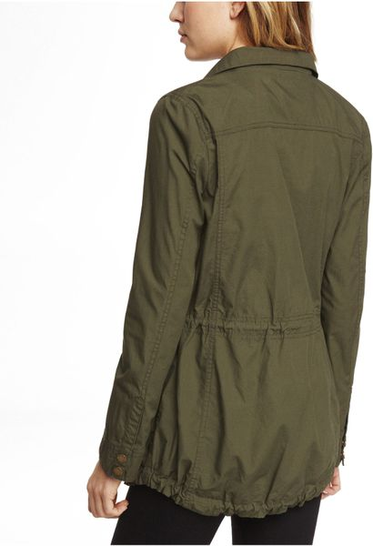 Express Cotton Anorak Jacket in Green (LIGHT OLIVE) | Lyst