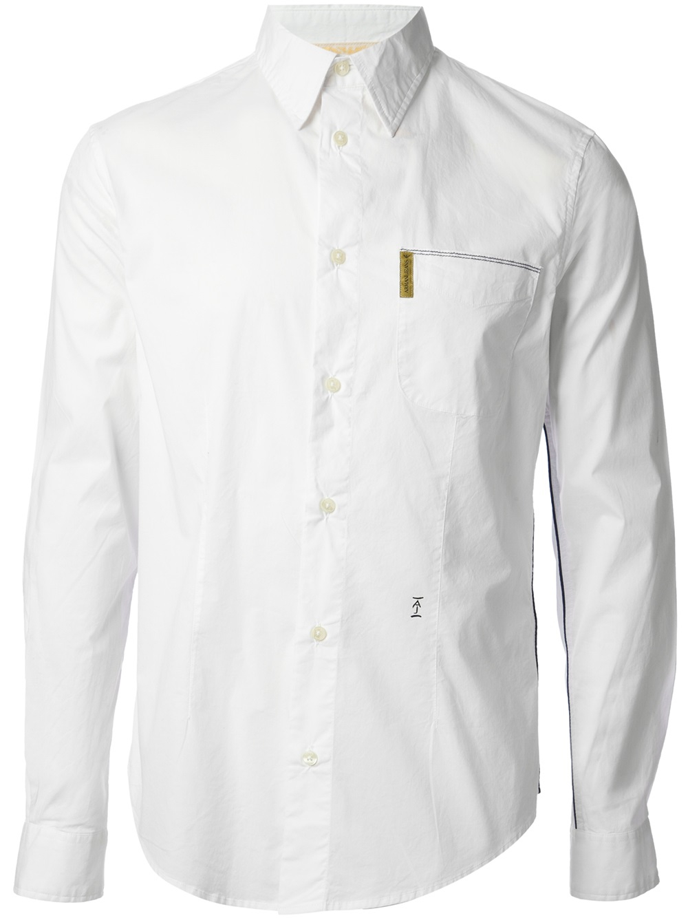 Lyst - Armani Jeans Button Down Shirt in White for Men