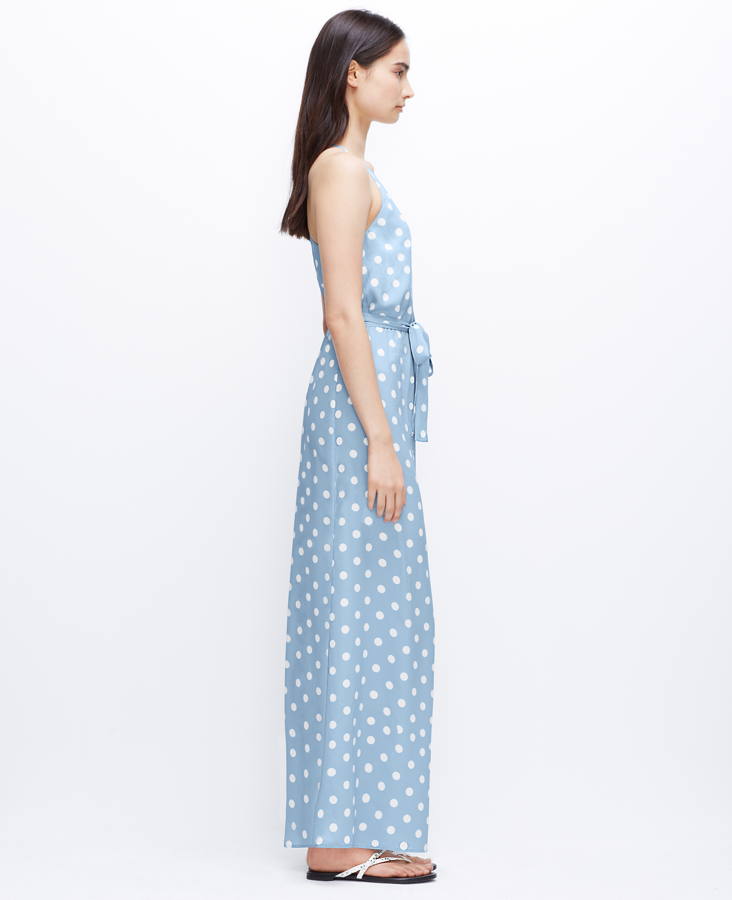Lyst Ann Taylor Polka Dot Maxi Dress In White
