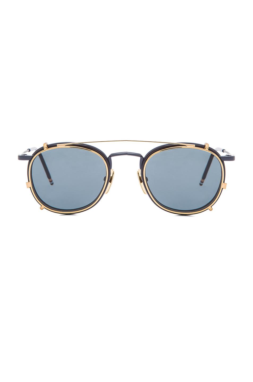 10aebdddc96 Lyst - Thom Browne Men S Clip On Sunglasses in Blue