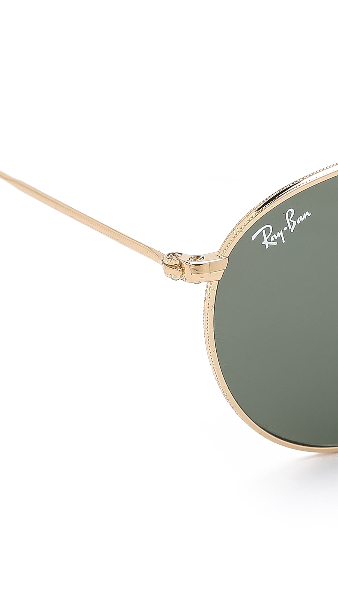 ray ban round metal sunglasses in metallic for men lyst. Black Bedroom Furniture Sets. Home Design Ideas