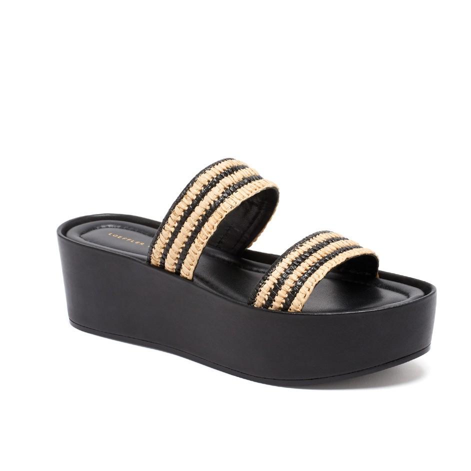 Lyst Loeffler Randall Luna Flatform Sandal In Black