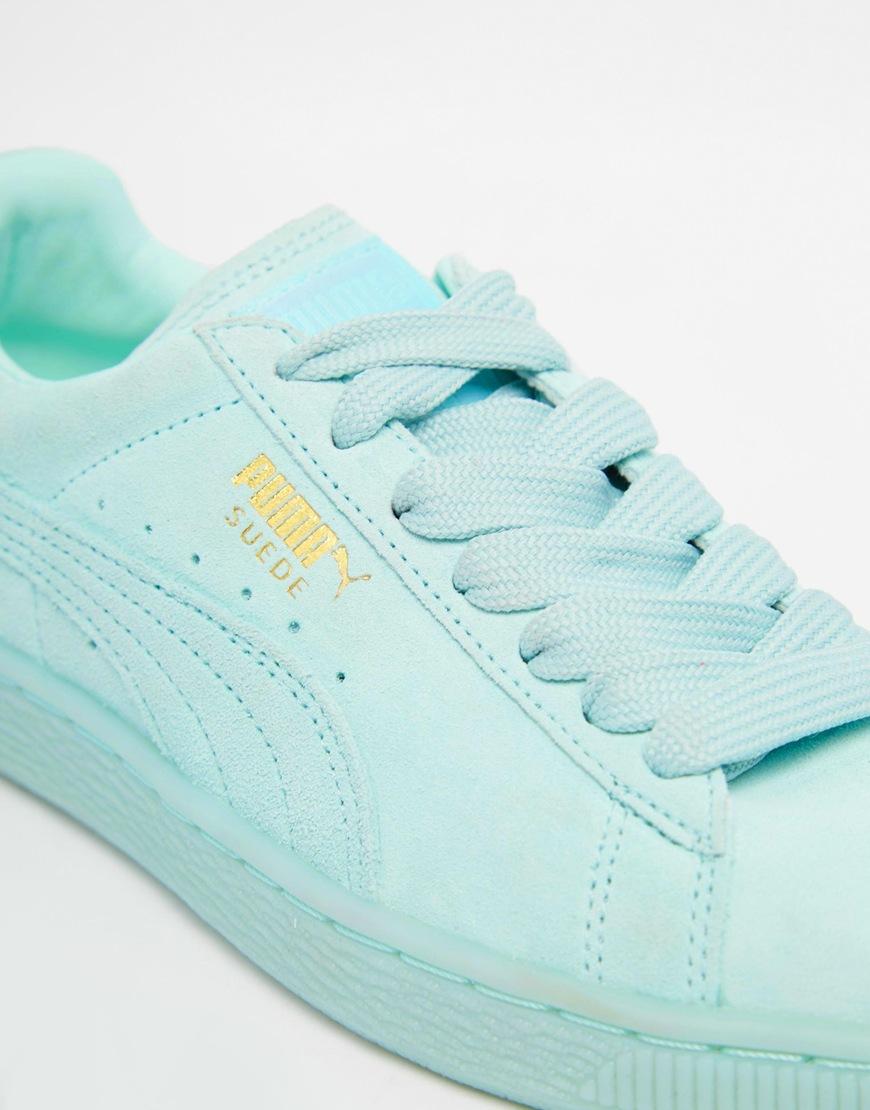 Mens Puma Mint Green Retro Shoes dc89926a6