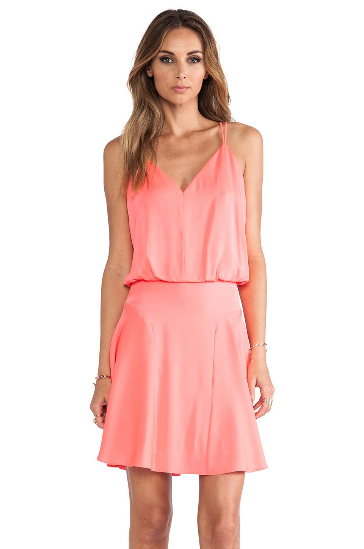 Lyst - Milly Stretch Silk Crepe Blouson Tank Dress in Pink