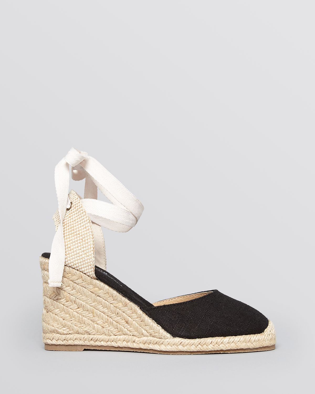 a4b0d6f6a17 Lyst - Soludos Platform Espadrille Wedge Sandals - Tall Linen in Black