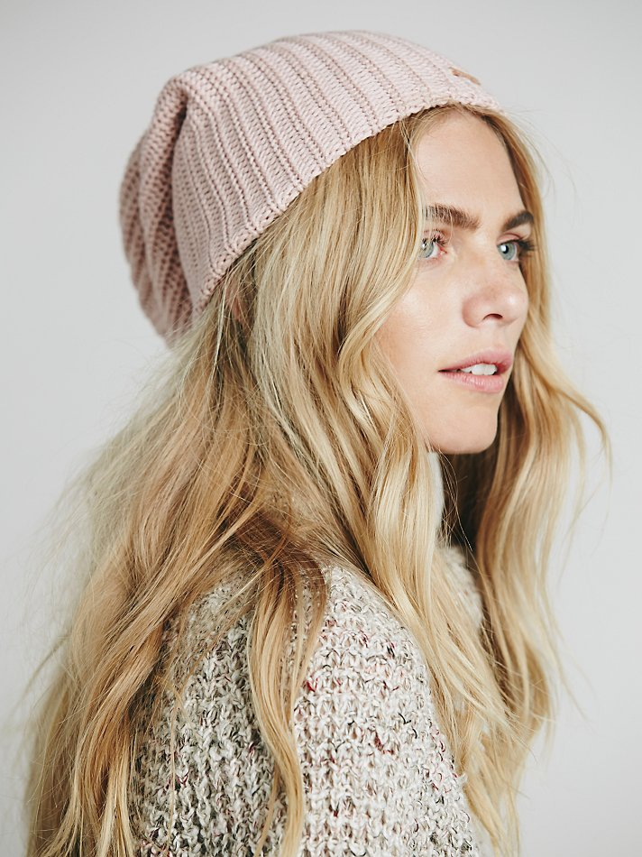 Lyst - Free People Womens Capsule Slouchy Beanie in Pink 4bf5ed25a556