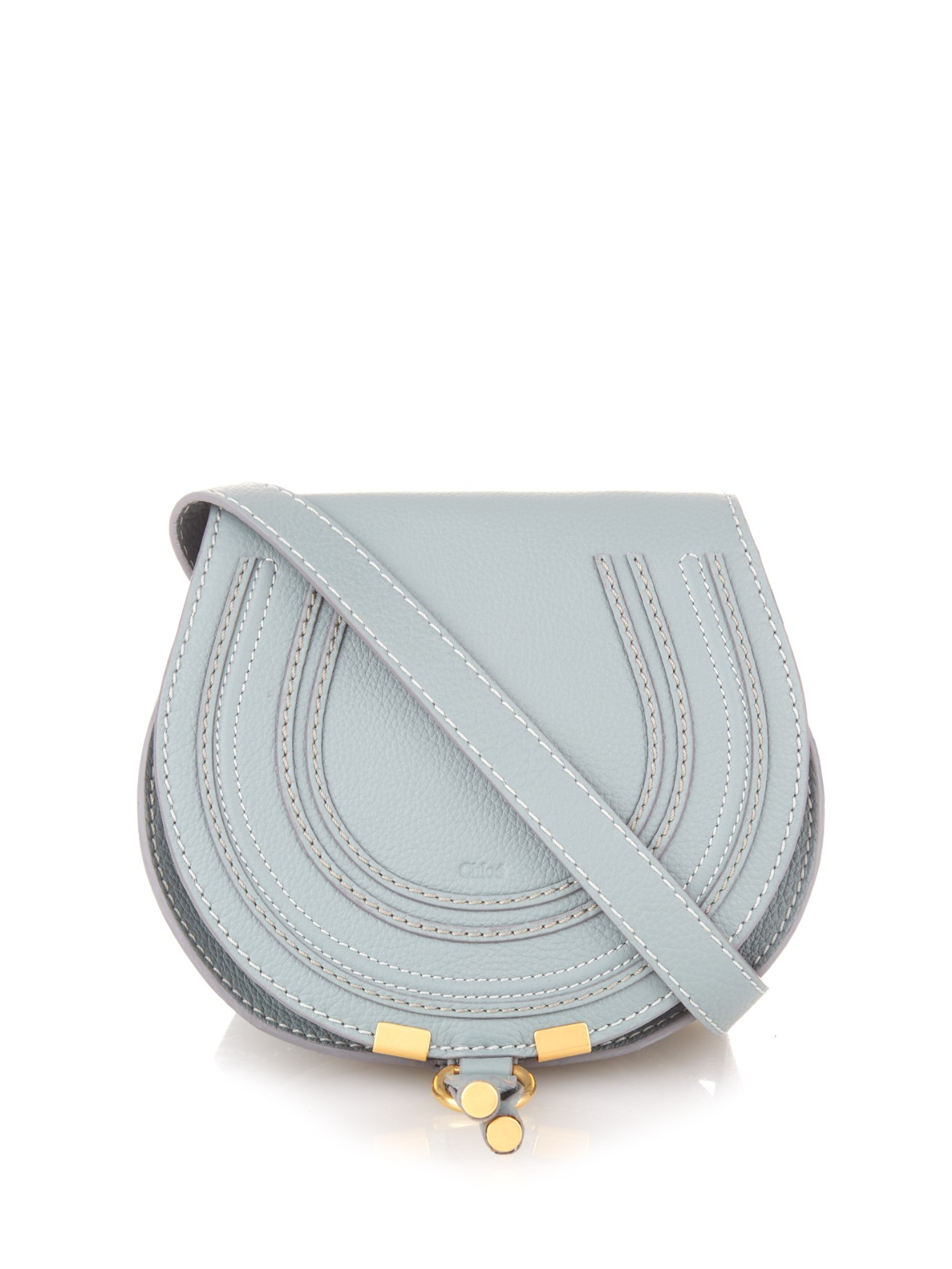 ed262021f7 Lyst - Chloé Marcie Mini Leather Cross-body Bag in Blue