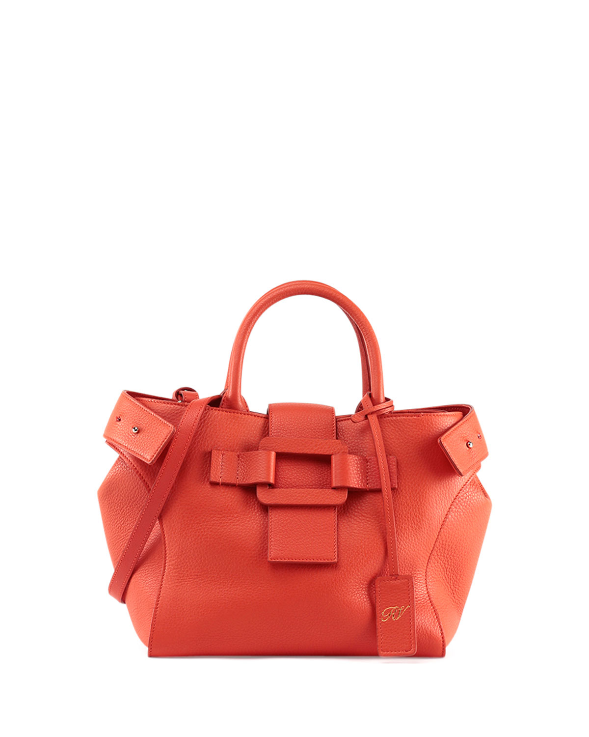 roger vivier pilgrim de jour small shopping tote bag in