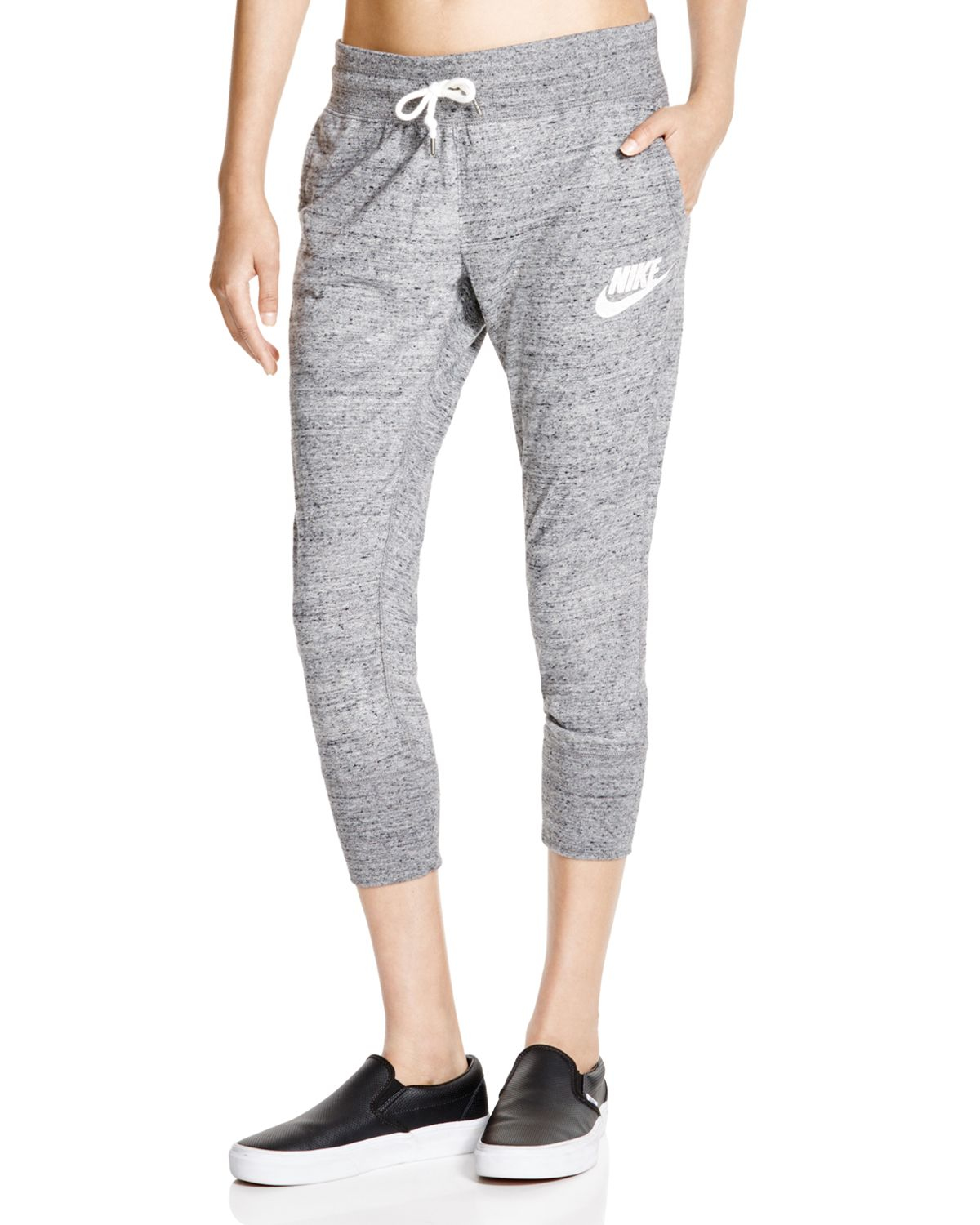 a272075b167d Lyst - Nike Gym Vintage Cropped Sweatpants in Gray