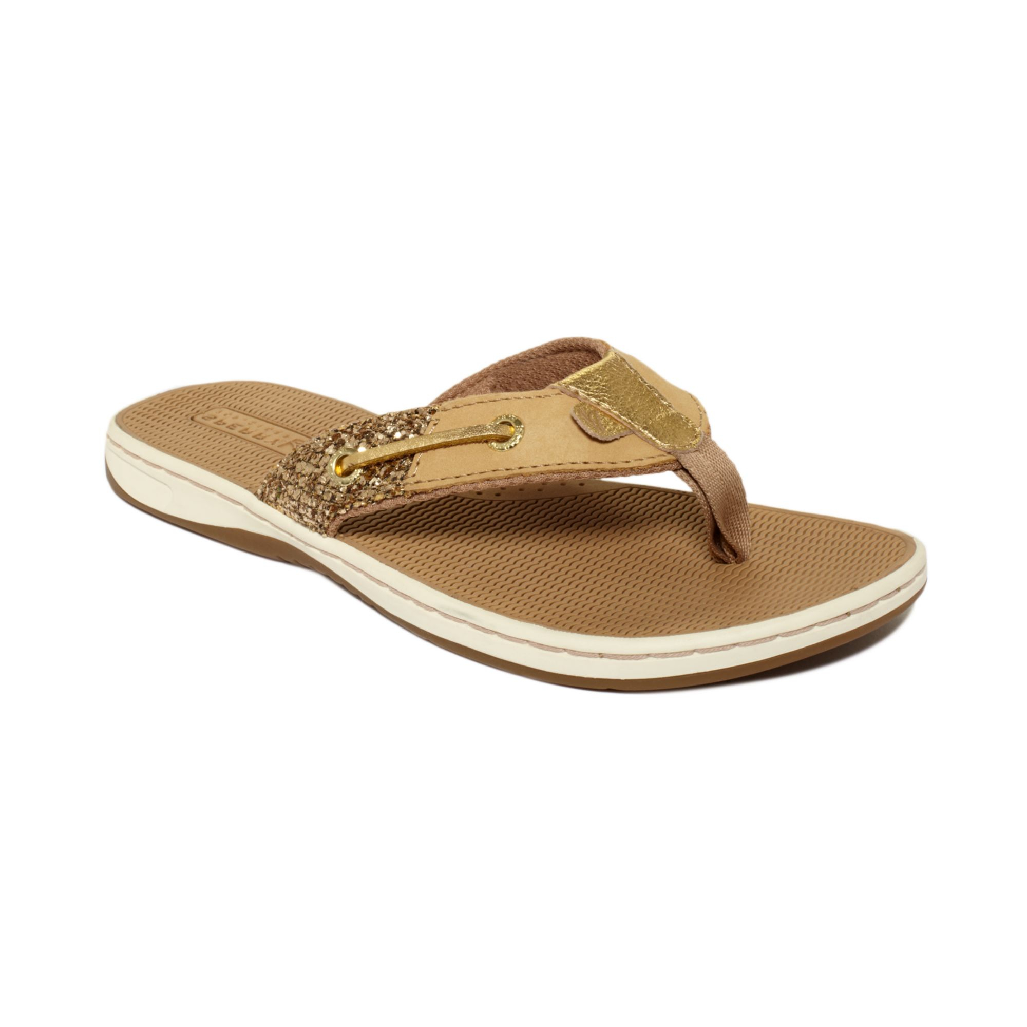 5bd103c7e51d Lyst - Sperry Top-Sider Seafish Thong Sandals in Brown