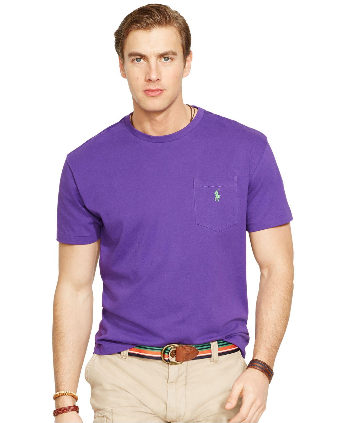 7b9e1fd1 Polo Ralph Lauren Crew-neck Pocket T-shirt in Purple for Men - Lyst