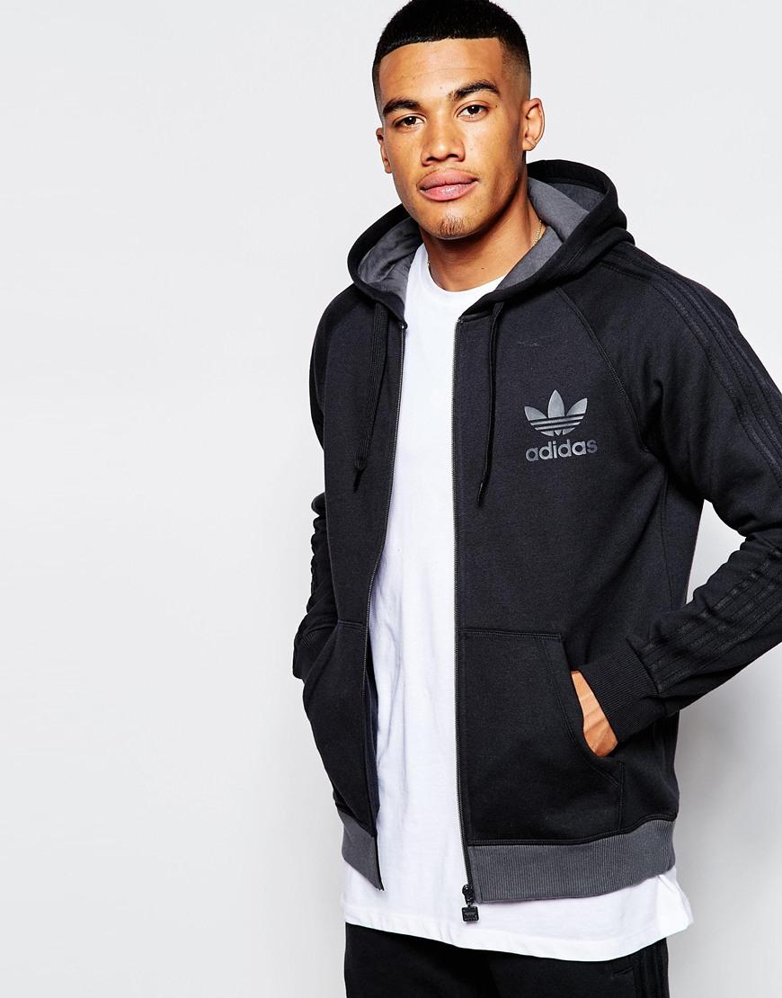Adidas Originals Black Trefoil Hoodie Ab7588 for men