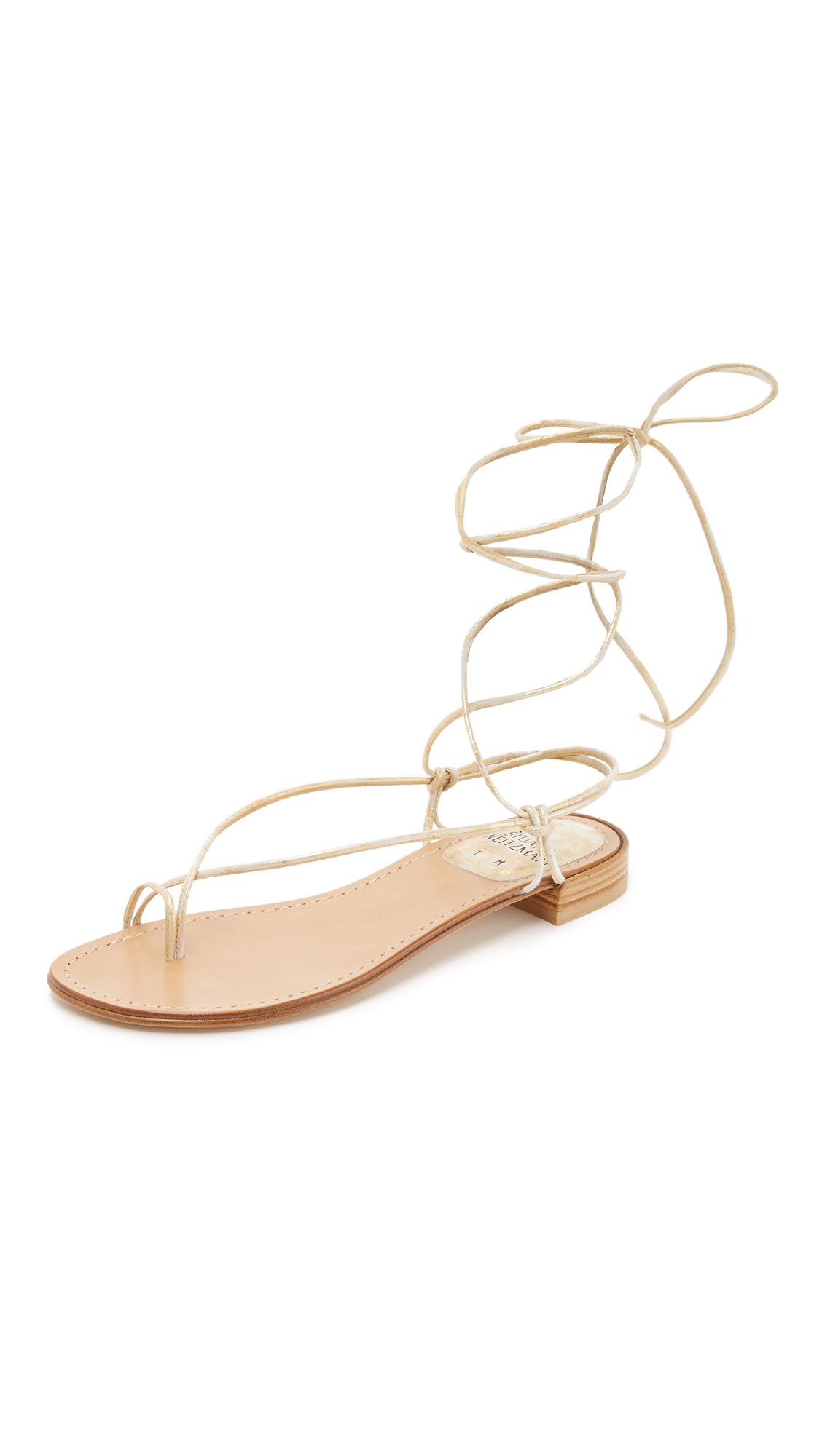 431f74614 Lyst - Stuart Weitzman Nieta Sandals in Metallic