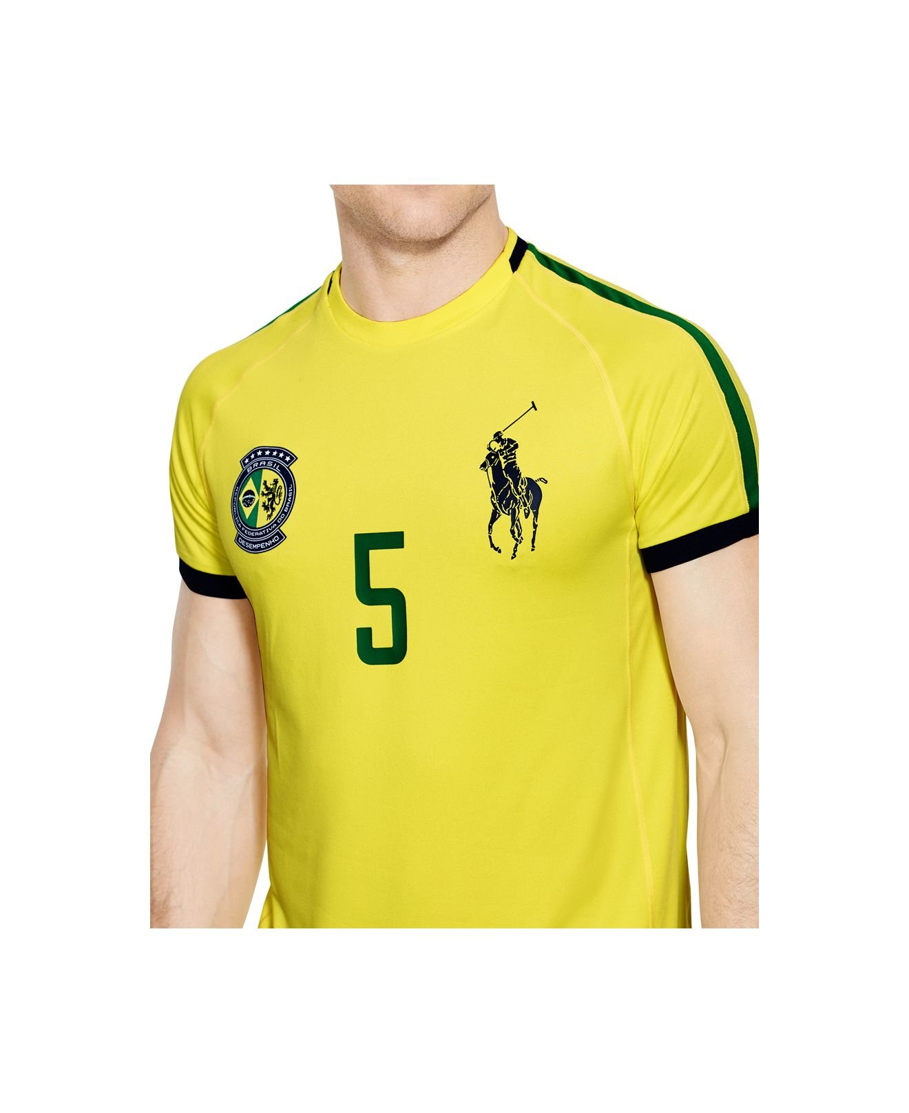 69288cda61c38 Lyst - Polo Ralph Lauren Polo Sport Brasil Performance Crew-neck T-shirt in  Yellow for Men