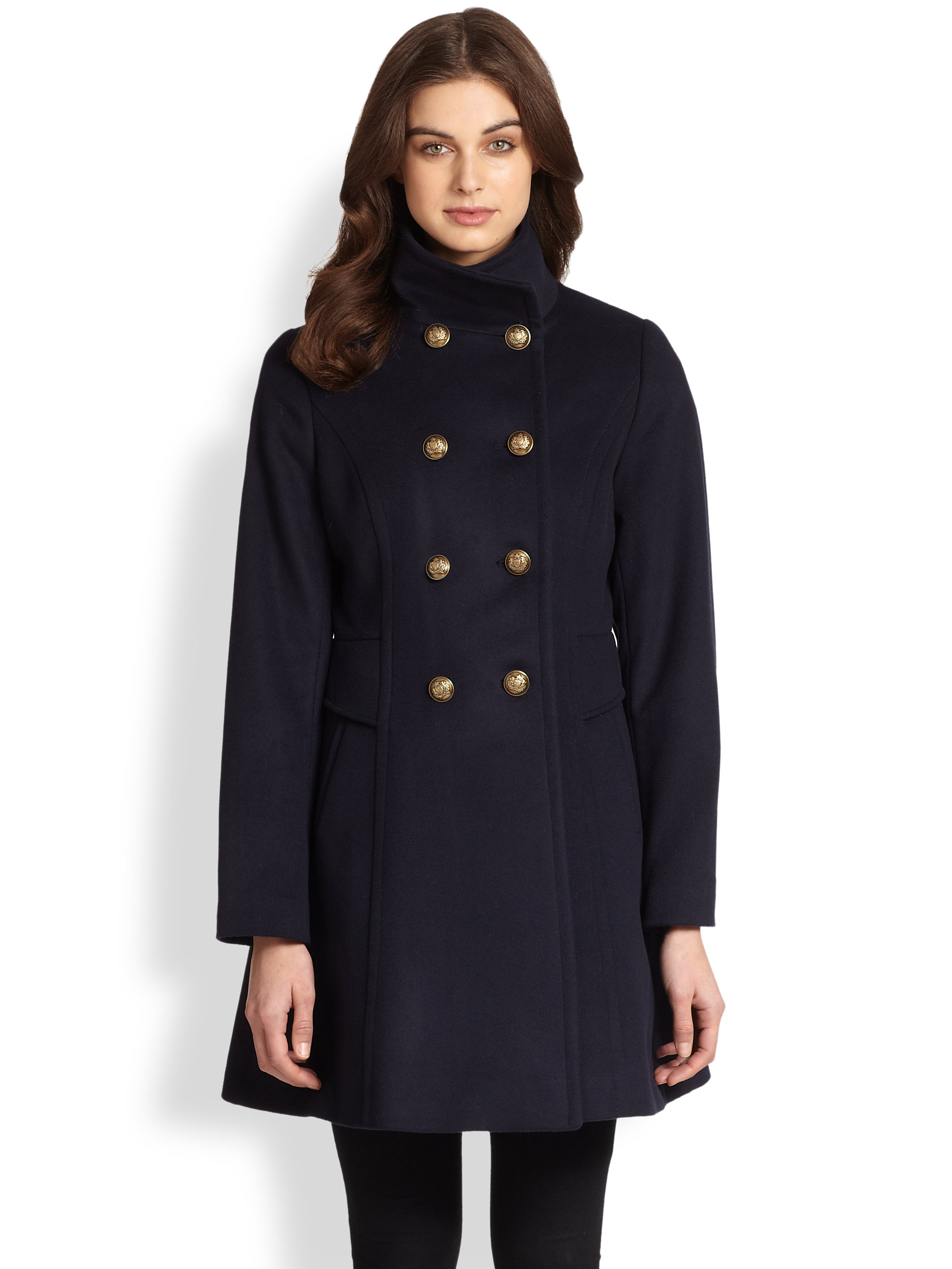 Trina Turk Officers Coat In Blue Navy Lyst