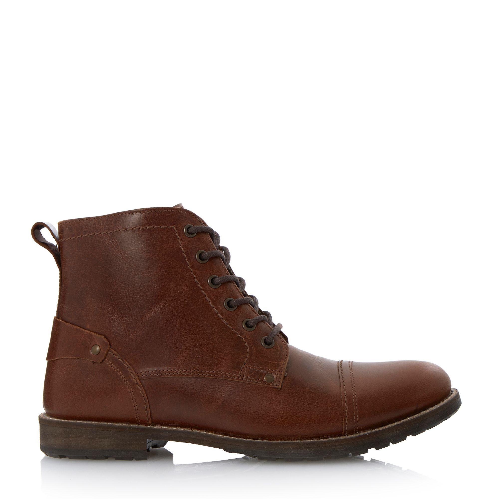 howick cardinal toecap casual boots in brown for lyst
